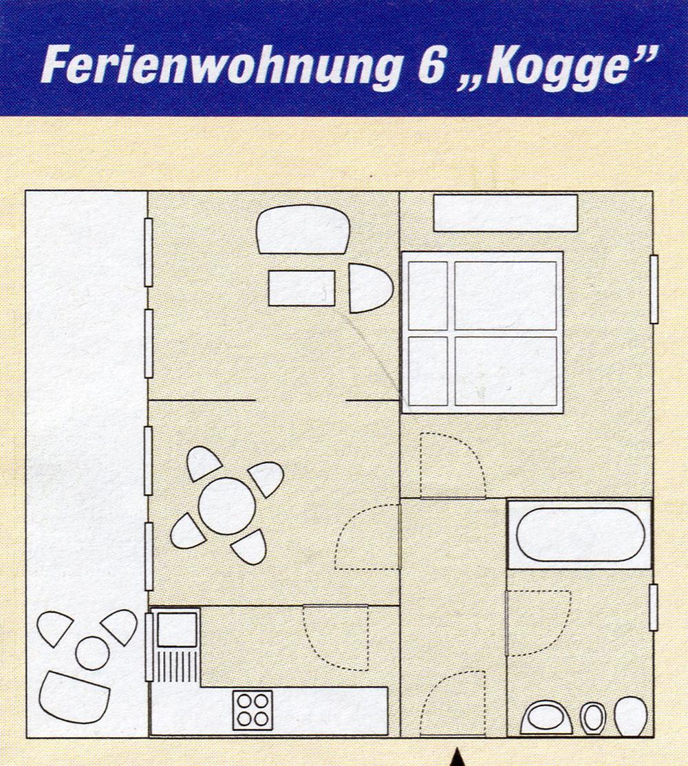ferienwohnung kogge ostseekiesel. Black Bedroom Furniture Sets. Home Design Ideas